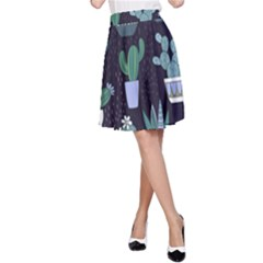 Cactus Pattern A Line Skirt