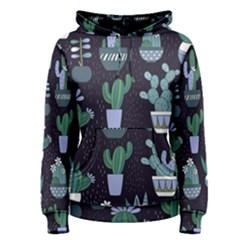 Cactus Pattern Women s Pullover Hoodie
