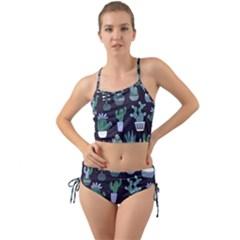 Cactus Pattern Mini Tank Bikini Set