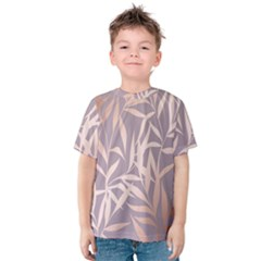Rose Gold, Asian,leaf,pattern,bamboo Trees, Beauty, Pink,metallic,feminine,elegant,chic,modern,wedding Kids  Cotton Tee