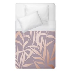 Rose Gold, Asian,leaf,pattern,bamboo Trees, Beauty, Pink,metallic,feminine,elegant,chic,modern,wedding Duvet Cover (single Size)