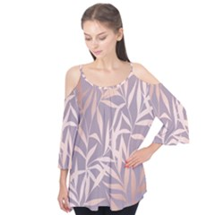 Rose Gold, Asian,leaf,pattern,bamboo Trees, Beauty, Pink,metallic,feminine,elegant,chic,modern,wedding Flutter Tees