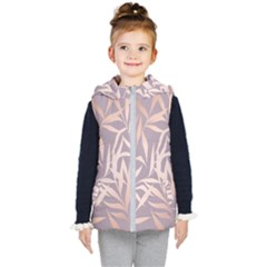 Rose Gold, Asian,leaf,pattern,bamboo Trees, Beauty, Pink,metallic,feminine,elegant,chic,modern,wedding Kid s Puffer Vest