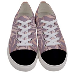 Rose Gold, Asian,leaf,pattern,bamboo Trees, Beauty, Pink,metallic,feminine,elegant,chic,modern,wedding Women s Low Top Canvas Sneakers