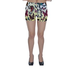 Colorful Butterflies Skinny Shorts