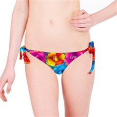 Neon Colored Floral Pattern Bikini Bottom