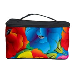Neon Colored Floral Pattern Cosmetic Storage Case