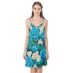 Light Blue Roses And Daisys Camis Nightgown