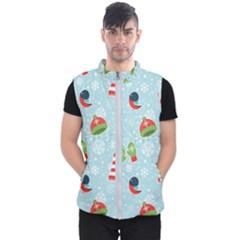 Winter Fun Pattern Men s Puffer Vest