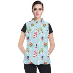 Winter Fun Pattern Women s Puffer Vest