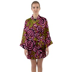 Aboriginal Art   You Belong Long Sleeve Kimono Robe