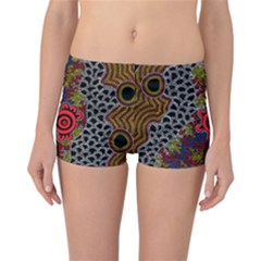 Aboriginal Art   Waterholes Reversible Boyleg Bikini Bottoms
