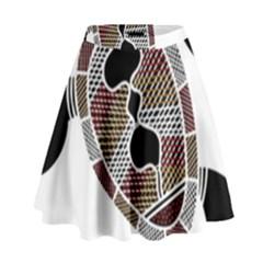 Aboriginal Art   Untitled High Waist Skirt