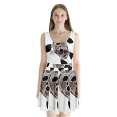 Aboriginal Art   Untitled Split Back Mini Dress