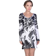 Broken Glass  Long Sleeve Nightdress