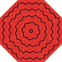 Red Box Pattern Golf Umbrellas