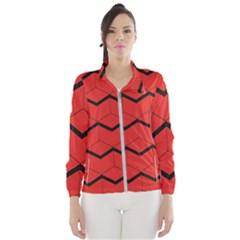Red Box Pattern Wind Breaker (women)