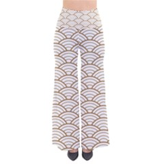Art Deco,japanese Fan Pattern, Gold,white,vintage,chic,elegant,beautiful,shell Pattern, Modern,trendy Pants