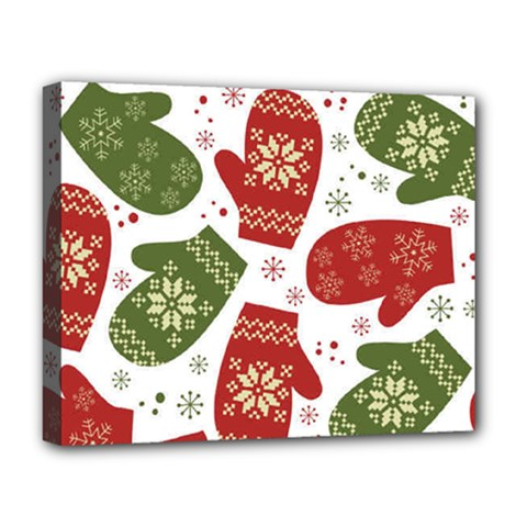 Winter Snow Mittens Deluxe Canvas 20  X 16