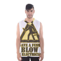 Save A Fuse Blow An Electrician Men s Basketball Tank Top