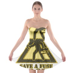 Save A Fuse Blow An Electrician Strapless Bra Top Dress