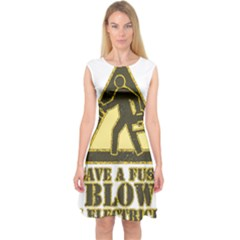 Save A Fuse Blow An Electrician Capsleeve Midi Dress