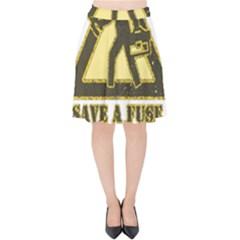 Save A Fuse Blow An Electrician Velvet High Waist Skirt
