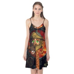 Funny Giraffe With Helmet Camis Nightgown