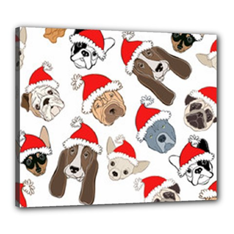 Christmas Puppies Canvas 24  X 20