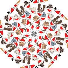 Christmas Puppies Golf Umbrellas