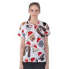 Christmas Puppies Women s Cotton Tee