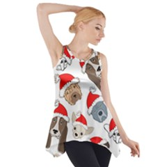 Christmas Puppies Side Drop Tank Tunic