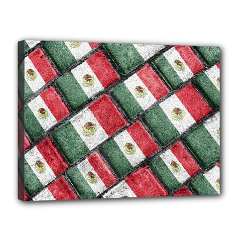 Mexican Flag Pattern Design Canvas 16  X 12