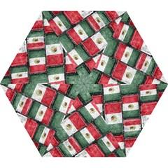 Mexican Flag Pattern Design Mini Folding Umbrellas