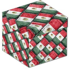 Mexican Flag Pattern Design Storage Stool 12