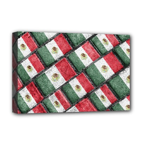Mexican Flag Pattern Design Deluxe Canvas 18  X 12