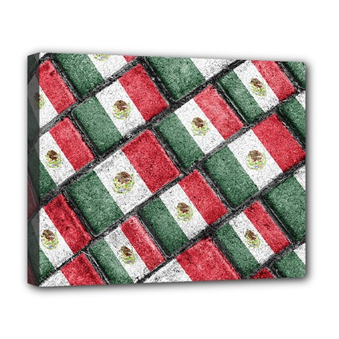 Mexican Flag Pattern Design Deluxe Canvas 20  X 16