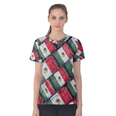 Mexican Flag Pattern Design Women s Cotton Tee