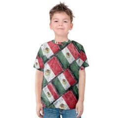Mexican Flag Pattern Design Kids  Cotton Tee