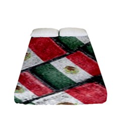 Mexican Flag Pattern Design Fitted Sheet (full/ Double Size)