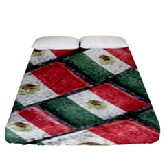 Mexican Flag Pattern Design Fitted Sheet (king Size)