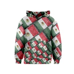 Mexican Flag Pattern Design Kids  Pullover Hoodie