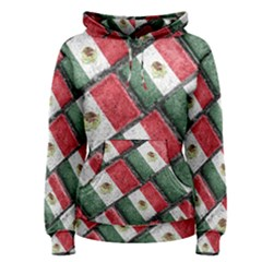 Mexican Flag Pattern Design Women s Pullover Hoodie