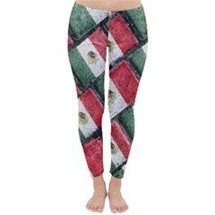 Mexican Flag Pattern Design Classic Winter Leggings