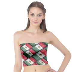 Mexican Flag Pattern Design Tube Top