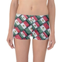 Mexican Flag Pattern Design Boyleg Bikini Bottoms