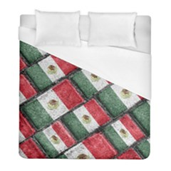 Mexican Flag Pattern Design Duvet Cover (full/ Double Size)