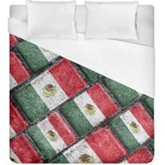 Mexican Flag Pattern Design Duvet Cover (king Size)