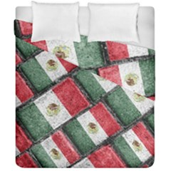 Mexican Flag Pattern Design Duvet Cover Double Side (california King Size)