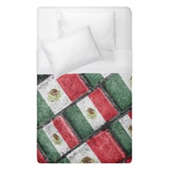 Mexican Flag Pattern Design Duvet Cover (single Size)